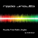 Radio Jingles CD jacket. Colourful wave spectrum on a black background.