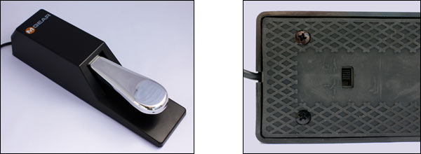 The M-Audio pedal viewed from above and below.