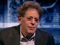 Photo of Philip Glass.