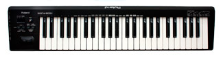 The Roland A500-S midi keyboard.